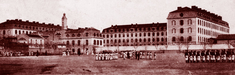 Le champ de manœuvres de la caserne d'Aix. DR.