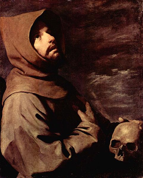 Saint François d'Assise en tenue de capucin (Francisco de Zurbarán, 1658).