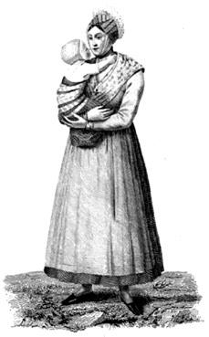 Arlésienne au XIXe siècle.