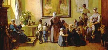 Tableau de François-Marius Granet, peint à l'initiative d'Antoine Aude en 1844, représentant une crèche aixoise au Petit Malvallat. Mme Granet est à genoux au centre, portant une pomme à sa bouche. DR.