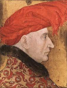 Louis II d'Anjou, comte de Provence. Bibl. nat. de Paris.