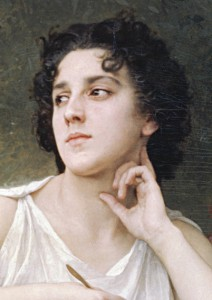 William-Adolphe Bouguereau, Inspiration, détail, 1898.
