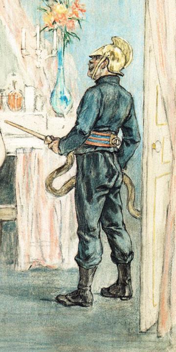 Soldat du feu, par Félicien Rops (1878-1881). DR.