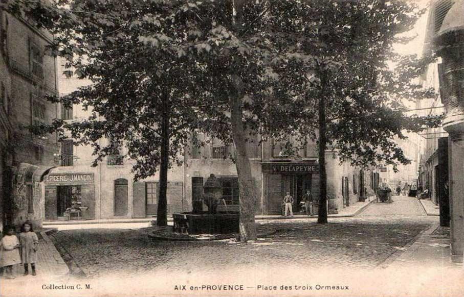 Place des Trois-Ormeaux, à Aix. DR.