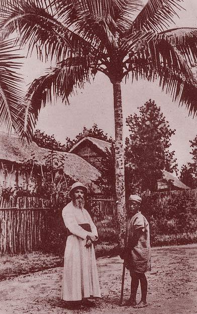 Un missionnaire européen à Madagascar. DR.