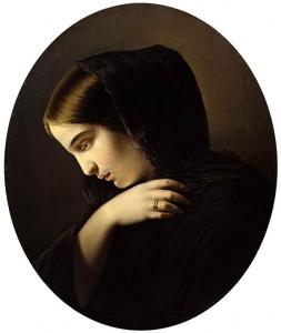 Yakov Kapkov, Femme en deuil, 1831.