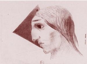 Odilon Redon, La Folie, estampe, G. Fischbacher, Paris, 1882.