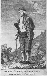 Portrait dAnnibal Camoux, in Le Socrate marseillais, 1773, gravure de Djean daprs un dessin dHenry.