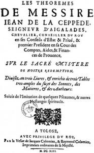 Page de titre des Théorèmes, Toulouse, 1613.