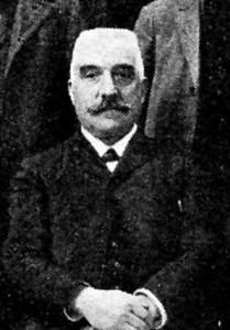 Henri Estienne, maire de Pélissanne. Cliché Héry. DR.