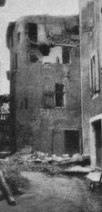 Un immeuble de Pélissanne après le tremblement de terre. (Cliché Ruat. DR.)