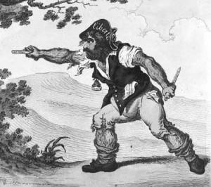 Caricature de sans-culotte, par James Gillray, Londres, 1797. DP.
