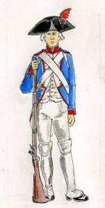 Fusilier de la Garde nationale (1791). © Khaerr, 2008.