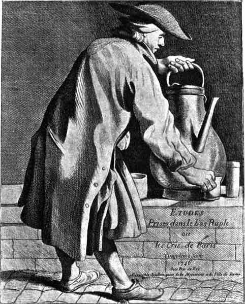 Marchand de café ambulant (XVIIIe siècle).Anonyme, XIXe siècle.