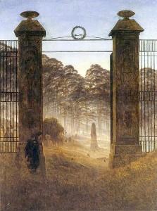 Entrée du cimetière. Caspar David Friedrich, 1825.