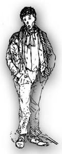 Jeune homme, par P. Letuaire (XIXe s.)