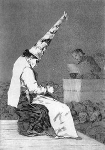 Abjuration d'un hérétique. Francisco de Goya (1746-1828)