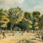 Le Cours Mirabeau en 1792, par Meunier; BnF.