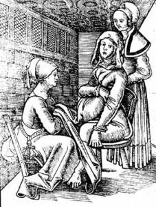 Naissance, Eucharius Rößlin, v. 1515.