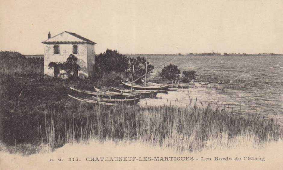 Châteauneuf-les-Martigues Les bord de l'étang. DR