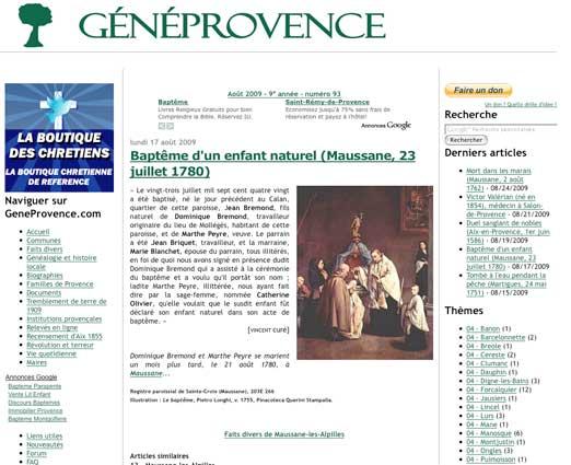 GénéProvence en 2009.