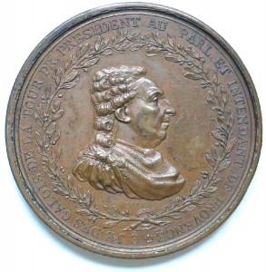 Gallois de La Tour, premier président du Parlement de Provence restauré en 1775. (médaille en bronze d'Augustin Dupré)