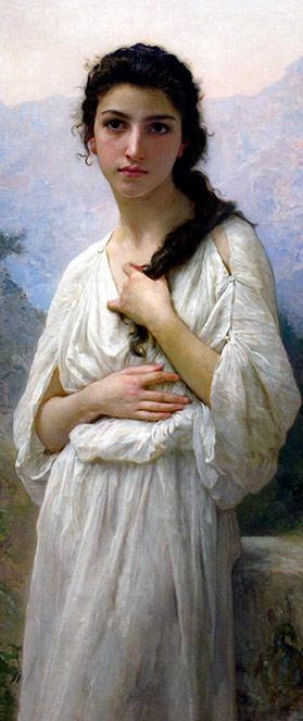 Méditation. W. Bouguereau. Musée d'art de Cincinnati, 1901.