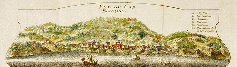 Cap-Français, autre nom du Cap (aujourd'hui Cap-Haïtien) en 1728.