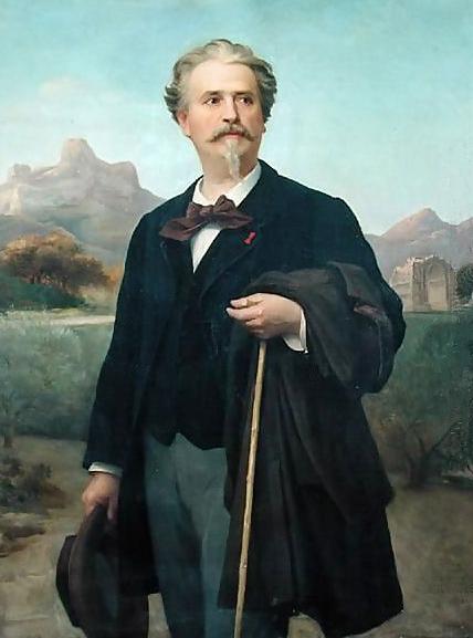 Portrait de Frédéric Mistral, par Félix-Auguste Clément, via Wikimedia Commons