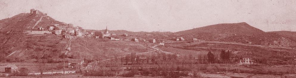 Saint-Maime et la plaine de la Laye au début du XXe siècle. DR.