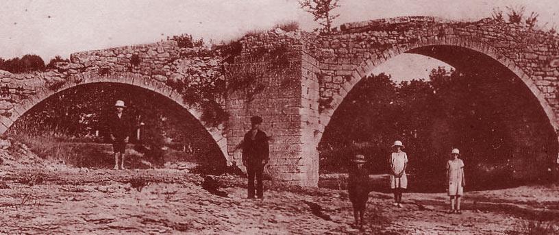 Mane, l'ancien pont sur la Laye. DR.