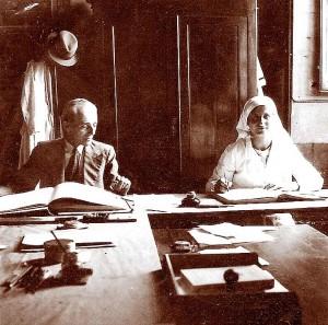 Odette Courveille, secrétaire du Bureau militaire de Carpentras. Arch. pers. de l'auteur.