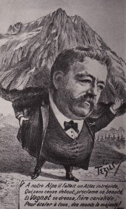 Caricature de Charles Vagnat par Eugène Tézier. Coll. Jean-Marc Barféty.