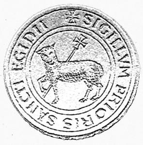 Sceau du Grand-Prieuré de Saint-Gilles (XIIIe siècle).