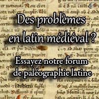Notre forum de paléographie latine