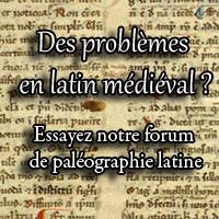 Notre forum de paléographie latine