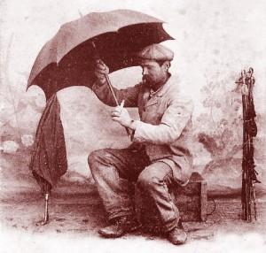 Le raccomodeur de parapluies. DR.