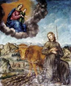 """""""Saint-Gens et la Vierge"""", tableau de l'église Saint-Didier de Monteux."""