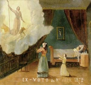 Ex-voto de Saint-Gens au Beaucet (Vaucluse).