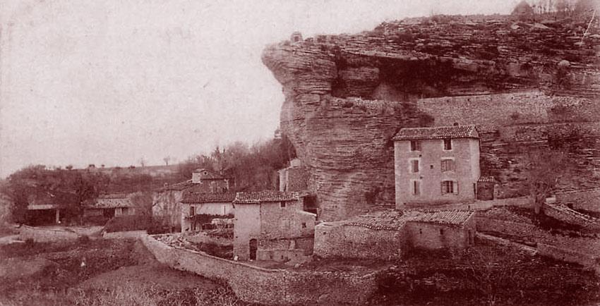 Hameau de Rocsalière. Cliché Deydier. Éd. Suau, à Apt.