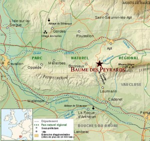 Localisation de la baume des Peyrards. © Michel Reyne.