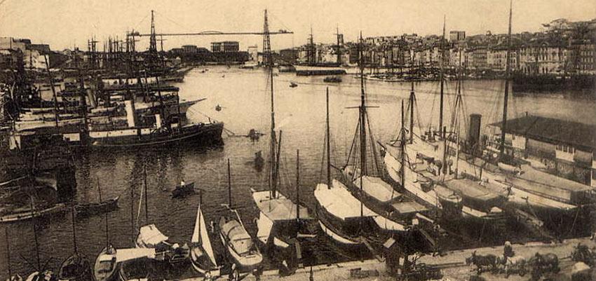 Le port de Marseille au début du XXe siècle. DR.