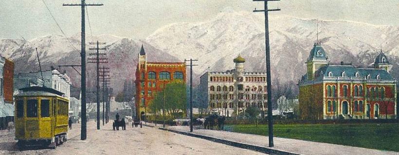 Ogden (Utah) au début du XXe siècle. DR.