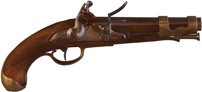Pistolet français de l'an IX. Musée historique de Vevey. © Rama, CC-BY-SA, 2.0..