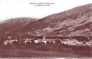 Saint-André-les-Alpes (Basses-Alpes), lieu de naissance de Juglar. DR.