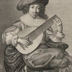 Charles David (1600-1636?), Joueur de guitare, estampe, à Paris, chez Pierre Le Blond, Bibl. nat. de France.