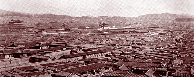 Séoul à la fin du XIXe siècle. DR.