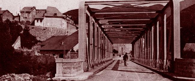 Savines et son pont sur la Durance. DR.