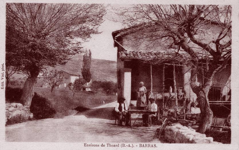 Barras (environs de Thoard). DR.