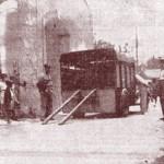 La camionnette abandonnée par les malfaiteurs, rue Gontard. DR.